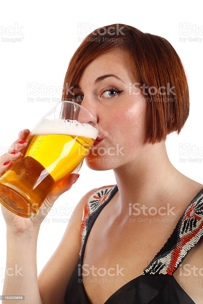 drinking beer stock photo