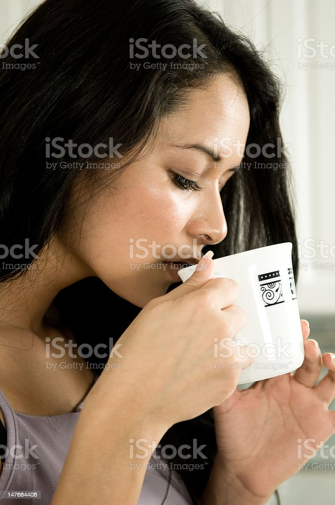 Drinking coffee. royalty-free stock photo