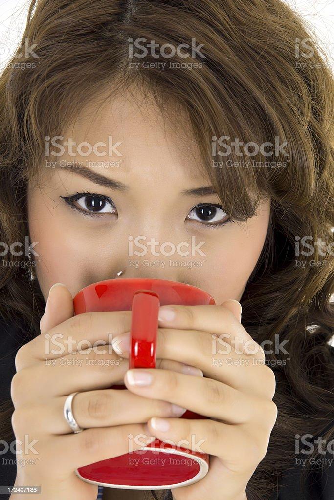 Drinking Coffee royalty-free stock photo