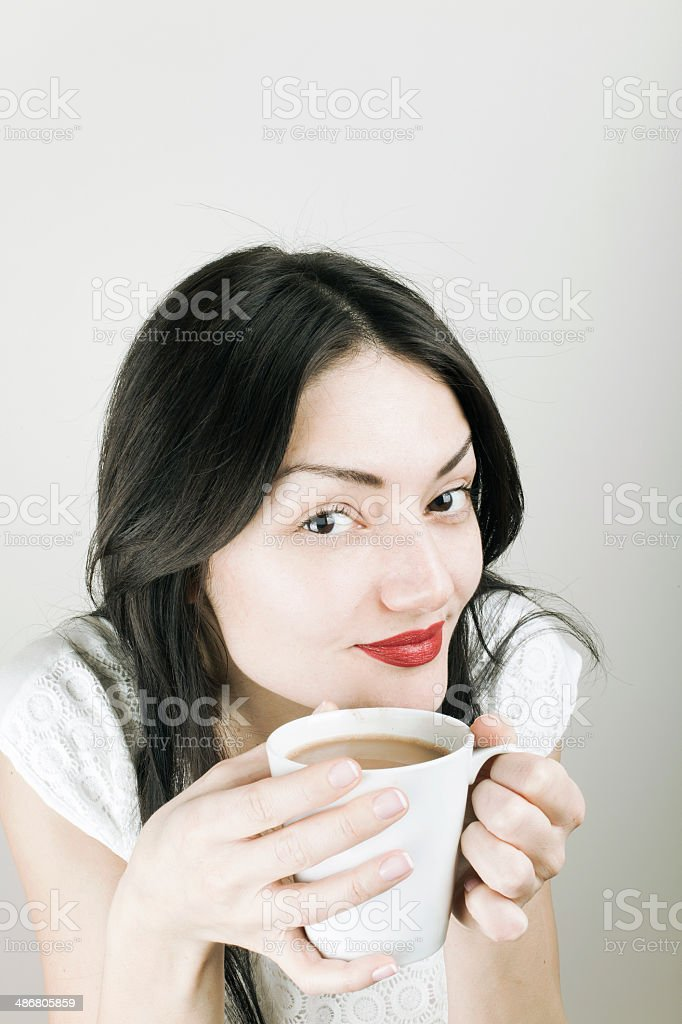 Drinking Coffee stock photo