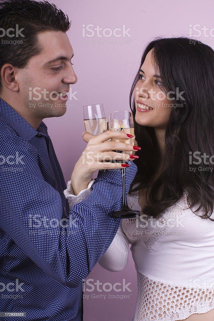 Drinking couple royalty-free stock photo