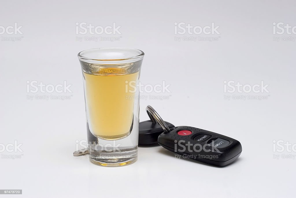 Drinking & Driving royalty-free stock photo