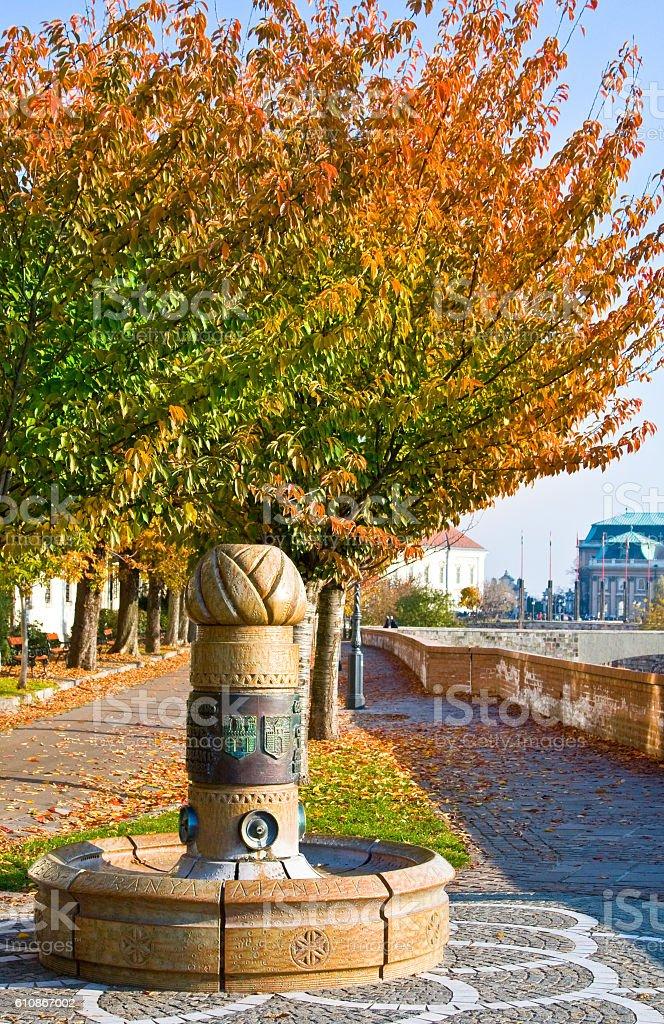 Drinking fountain in Budapesht, Hungury stock photo