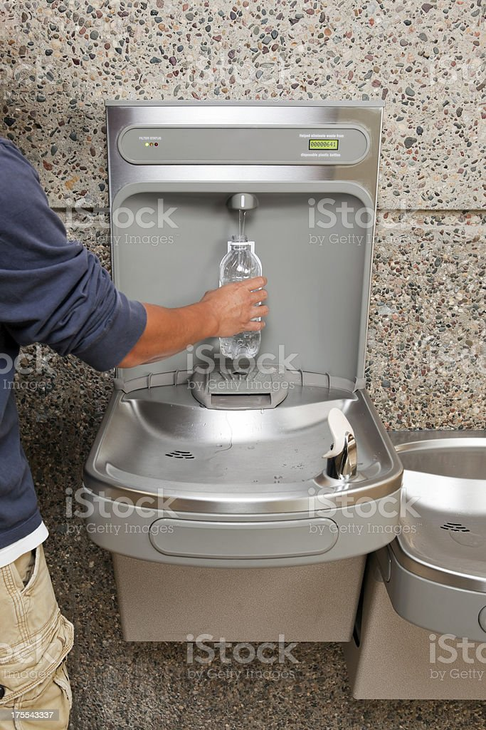 Drinking Fountain Water Bottle Filling Station stock photo