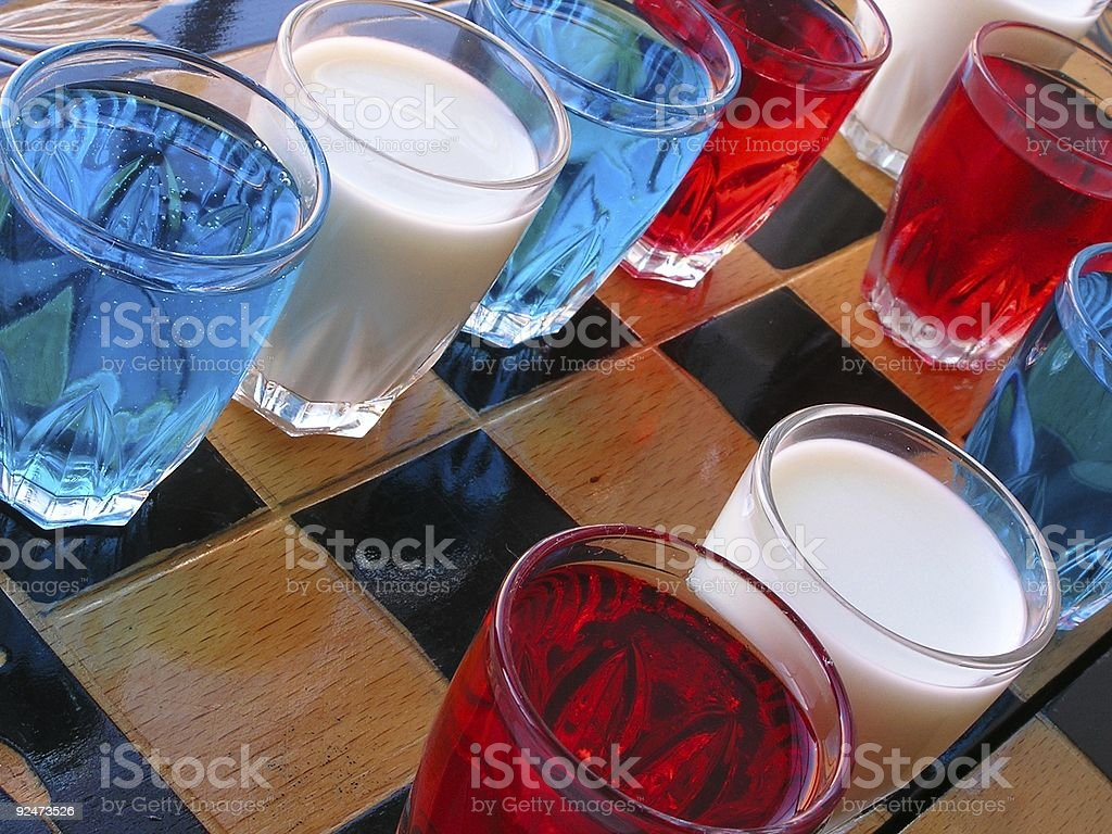 Drinking games stock photo