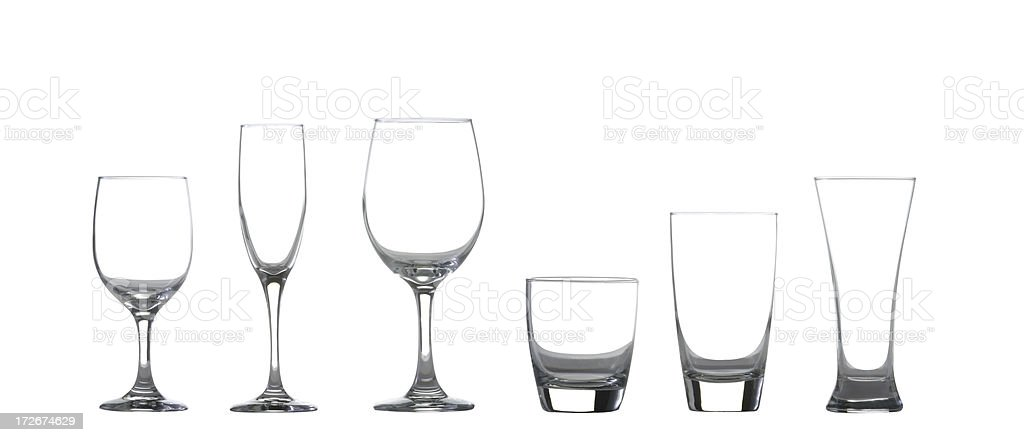 Drinking glassses w/clipping paths royalty-free stock photo