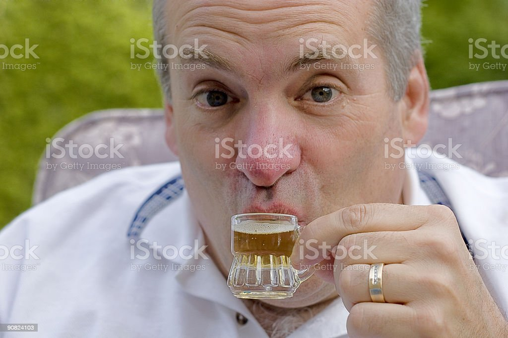 Drinking in moderation stock photo