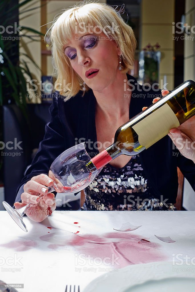 drinking in Restaurant royalty-free stock photo