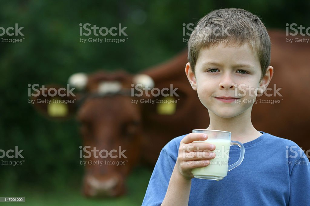 drinking milk stock photo