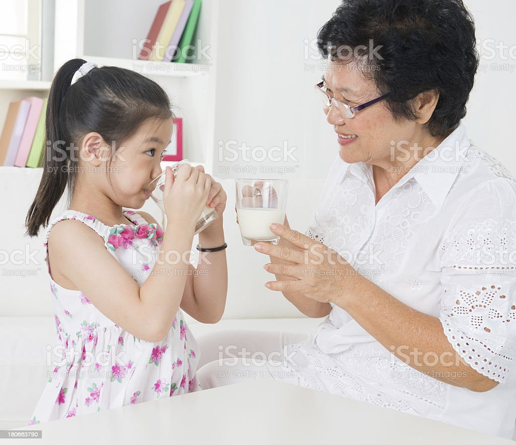 Drinking milk. royalty-free stock photo