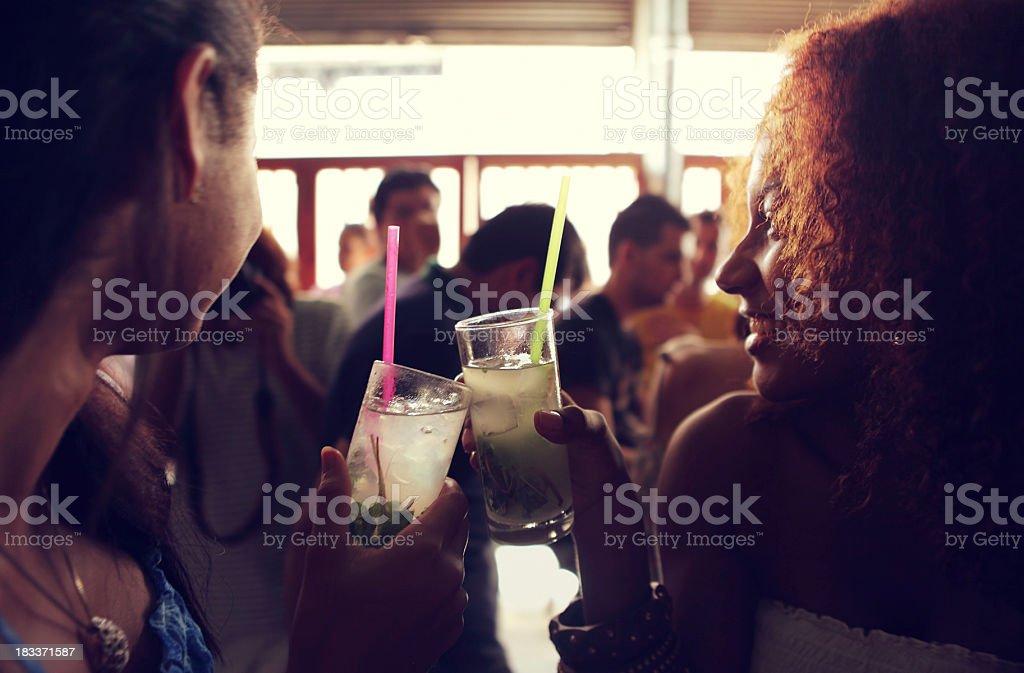 Drinking Mojito in Cuba stock photo