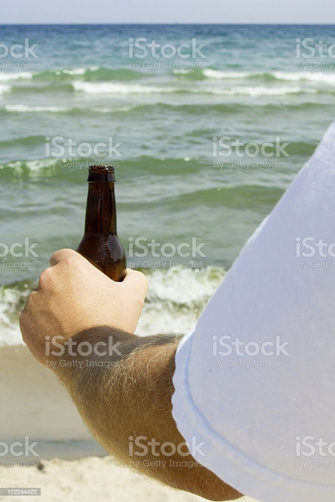 Drinking on the Beach royalty-free stock photo