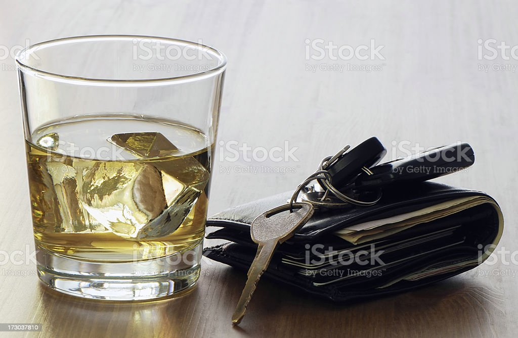 Drinking or driving royalty-free stock photo