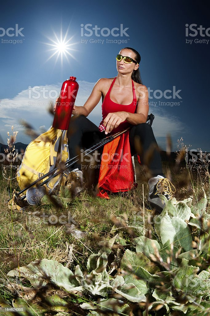 Drinking outdoors royalty-free stock photo