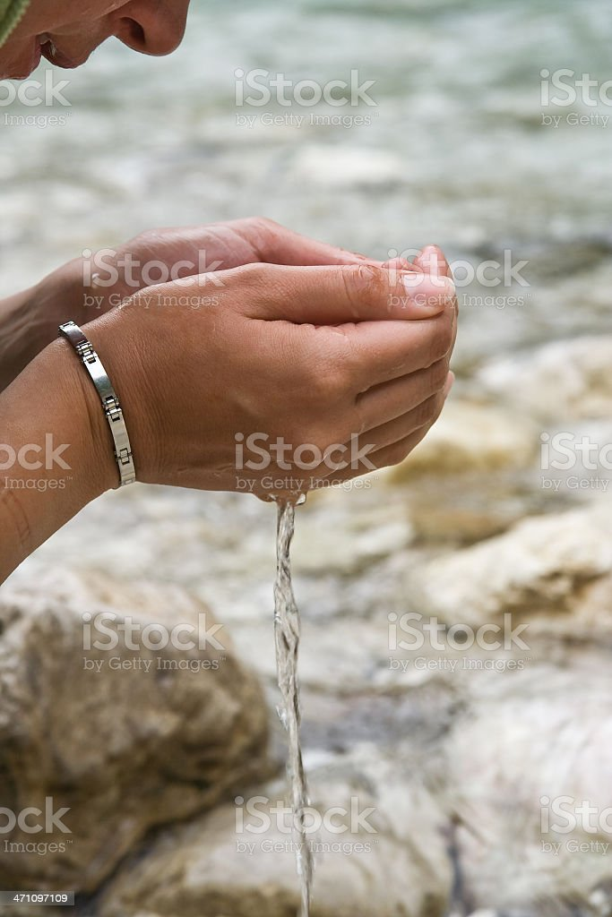 Drinking royalty-free stock photo