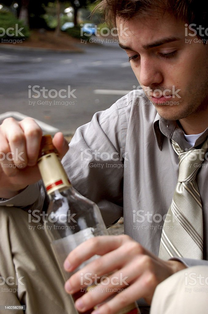 drinking problem royalty-free stock photo