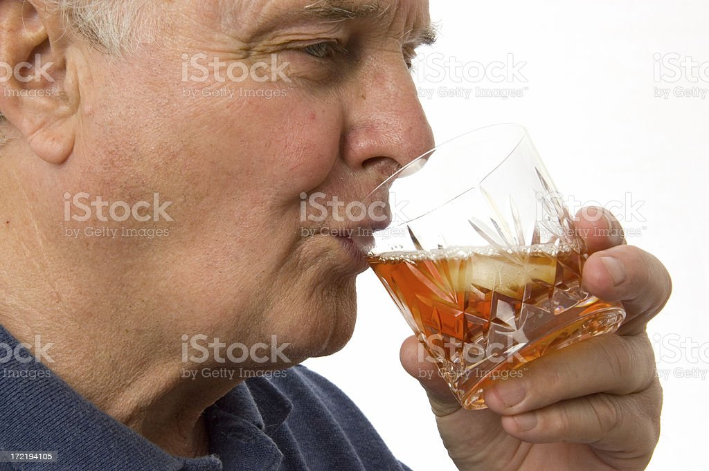 Drinking Spirits royalty-free stock photo