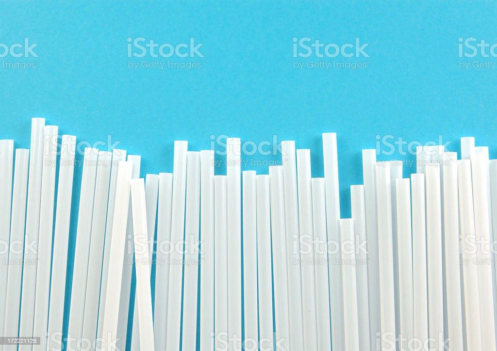 Drinking straw border royalty-free stock photo