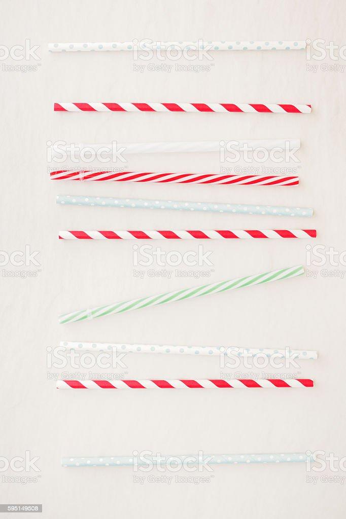 Drinking straws background stock photo