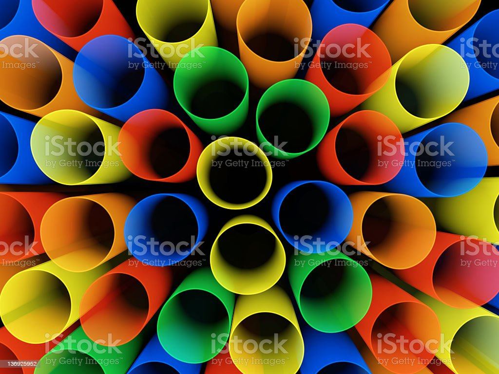 Drinking straws royalty-free stock photo