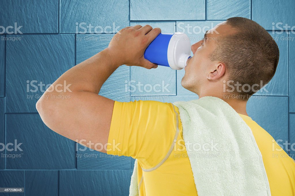 Drinking supplement drink royalty-free stock photo