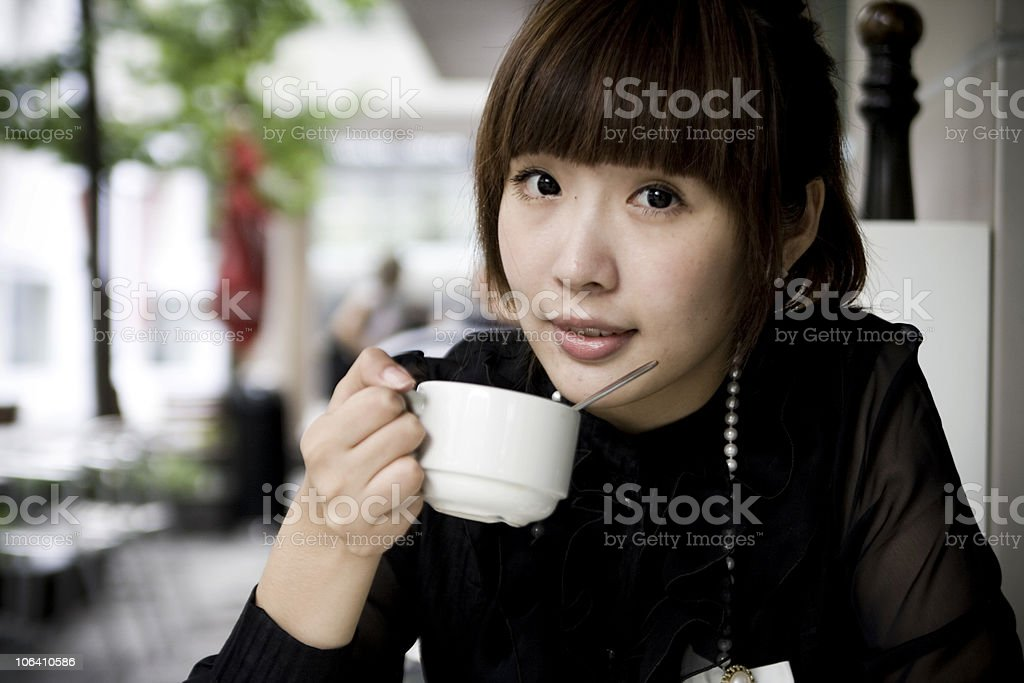Drinking tea royalty-free stock photo