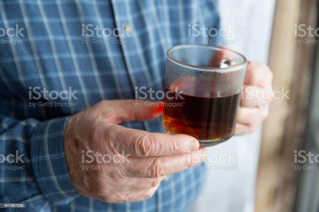 Drinking Tea stock photo