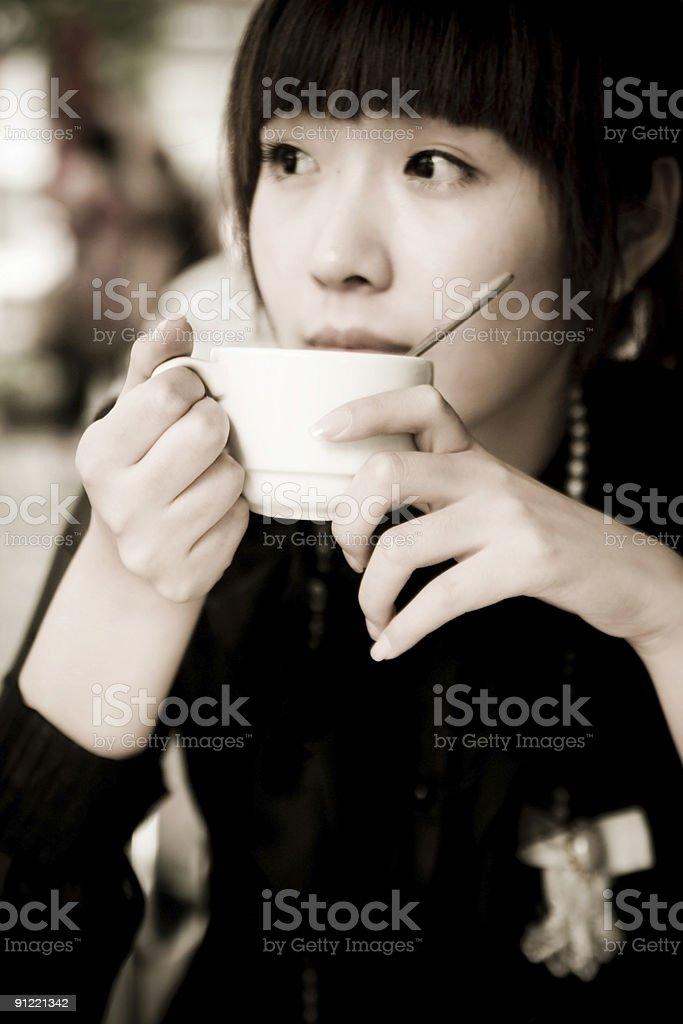 Drinking tea royalty-free stock photo