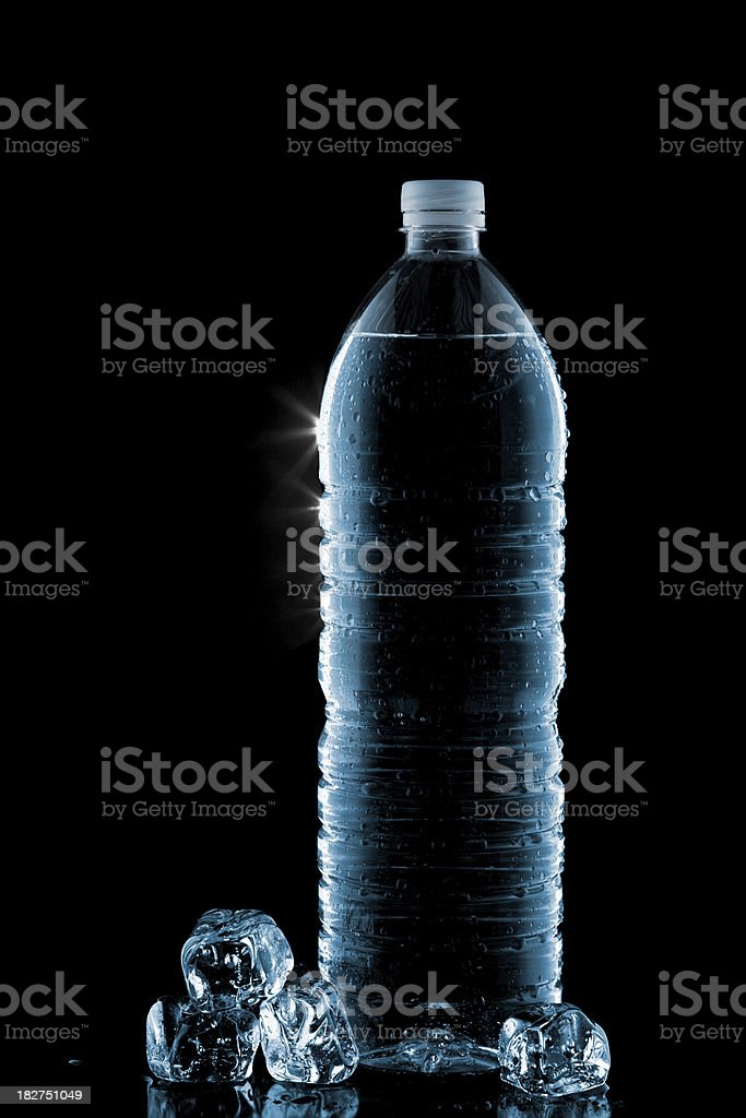 Drinking water bottle royalty-free stock photo