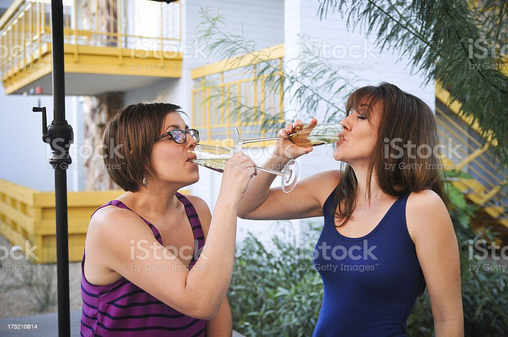 Drinking with friends stock photo