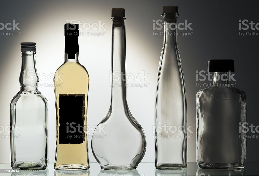 Drinks, Alcohol, Bottles royalty-free stock photo