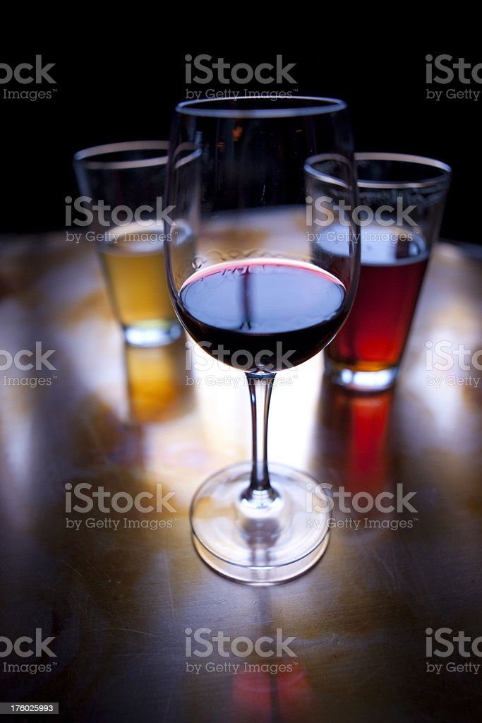 Drinks at Happy Hour! stock photo