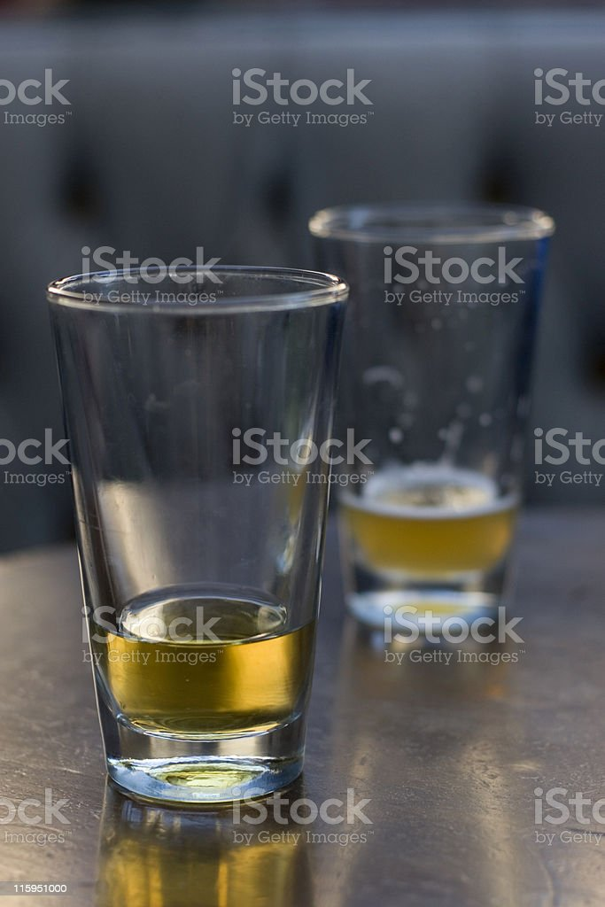 Drinks at Twilight royalty-free stock photo