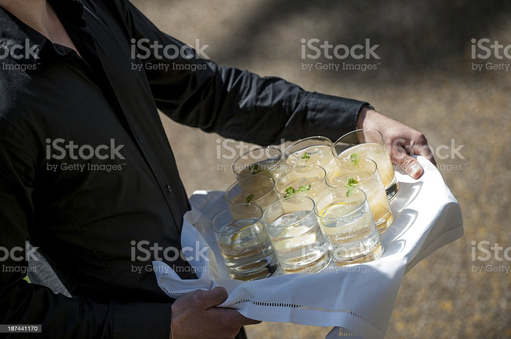 Drinks being served royalty-free stock photo