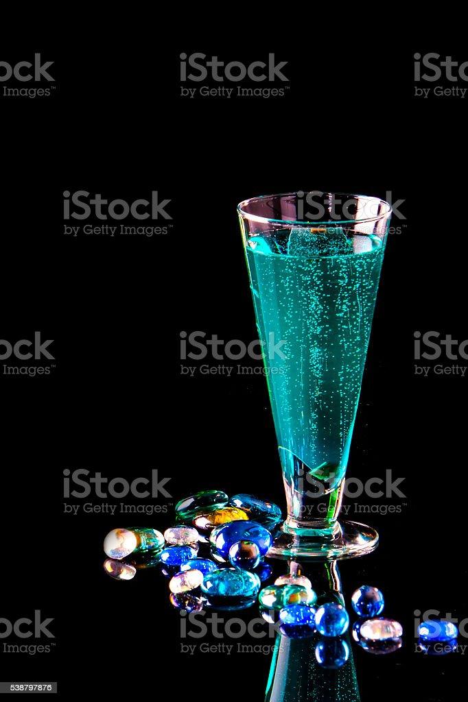 Drinks: Blue Lagoon stock photo