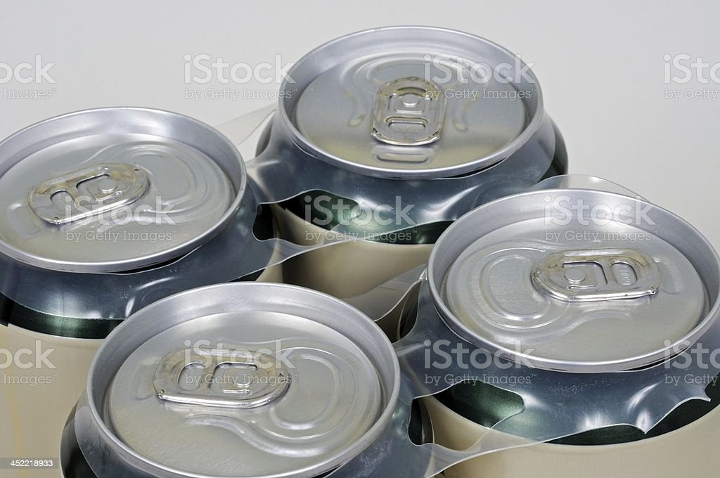 Drinks can tops. royalty-free stock photo