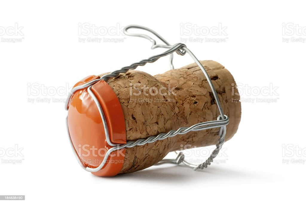 Drinks: Champagne Cork royalty-free stock photo