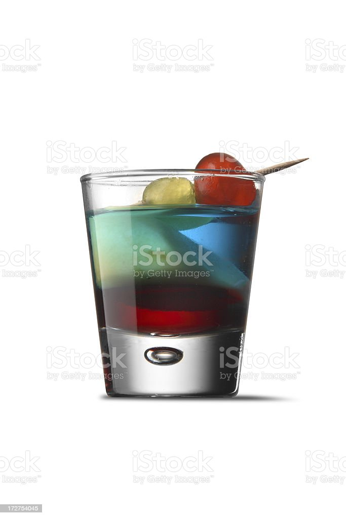 Drinks: Colourful Shot royalty-free stock photo