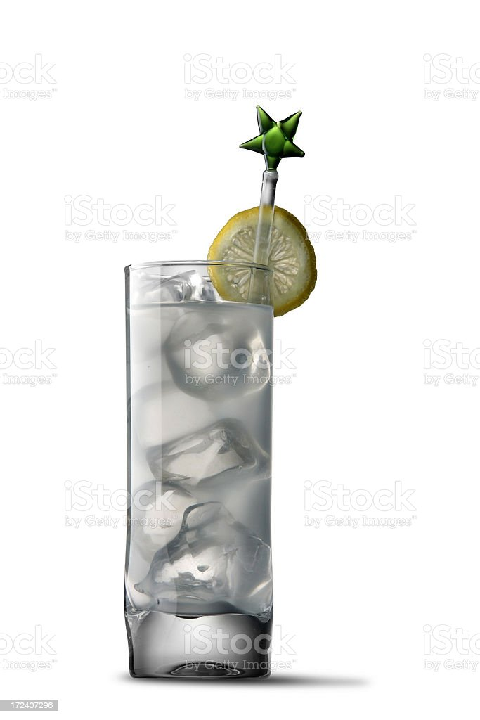 Cocktails Isolated: Gin Tonic stock photo