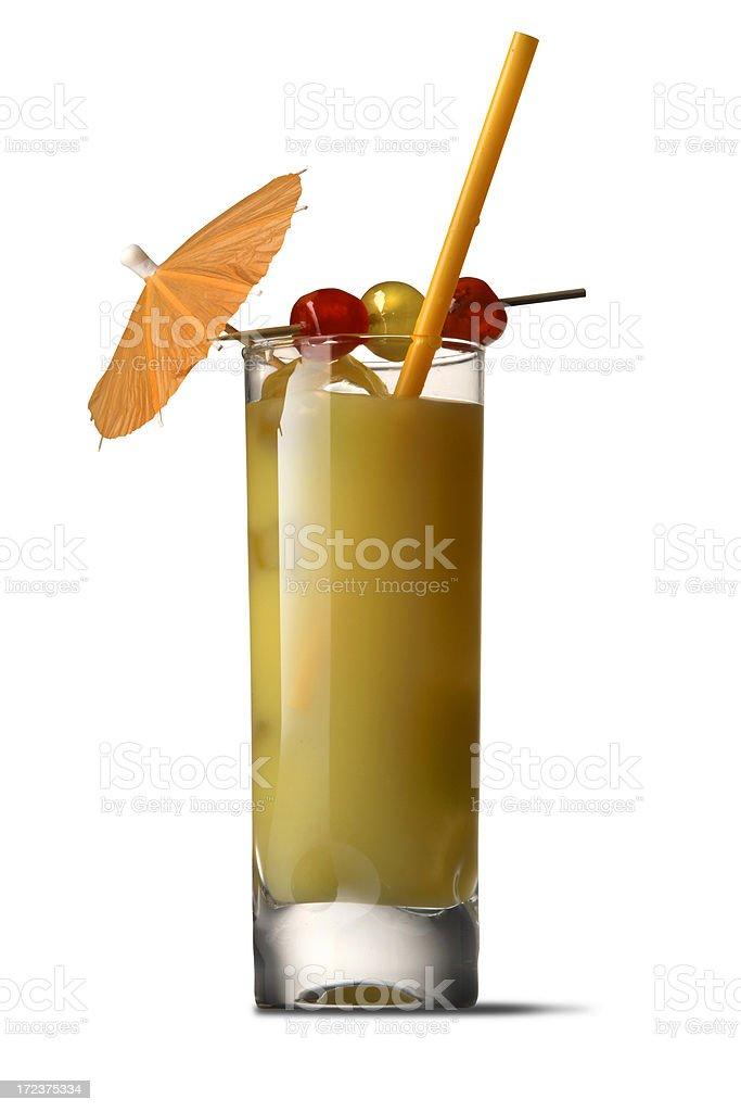 Drinks: Harvey Wallbanger royalty-free stock photo