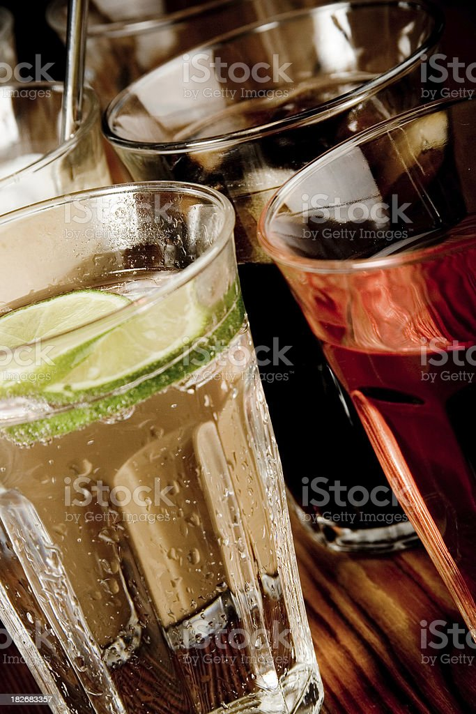Drinks in a row royalty-free stock photo