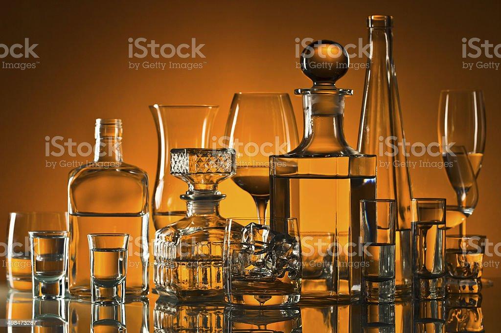 drinks in bar stock photo