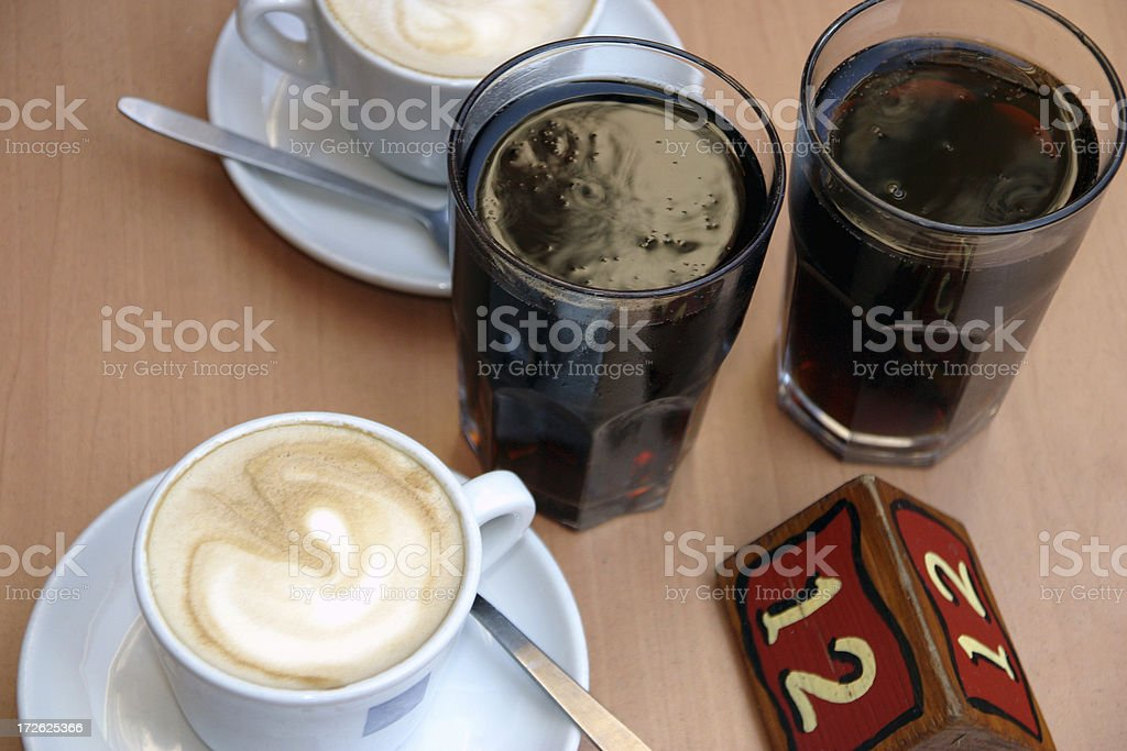 Drinks on table No. 12 royalty-free stock photo