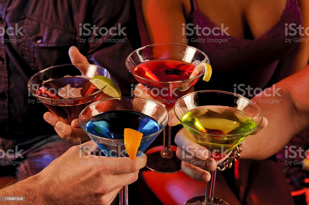 Drinks On The Town royalty-free stock photo
