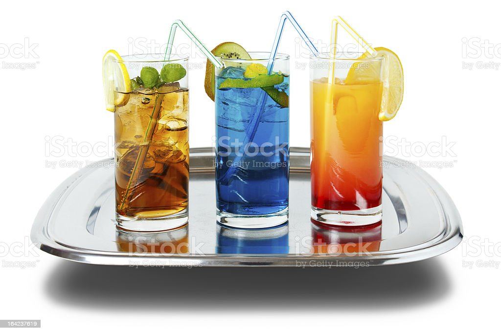 Drinks on tray royalty-free stock photo