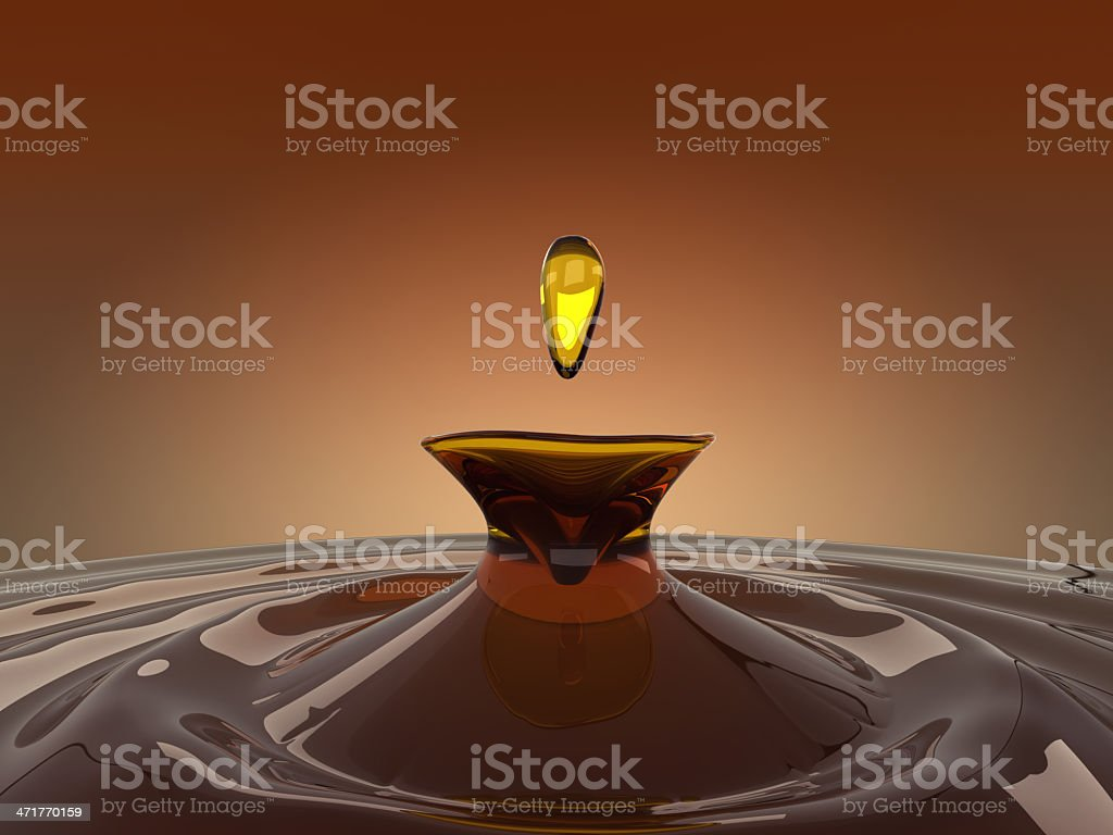 Drinks: splash and drop of brandy royalty-free stock photo