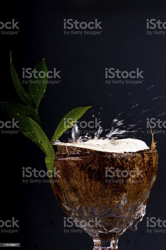 Drinks splash royalty-free stock photo