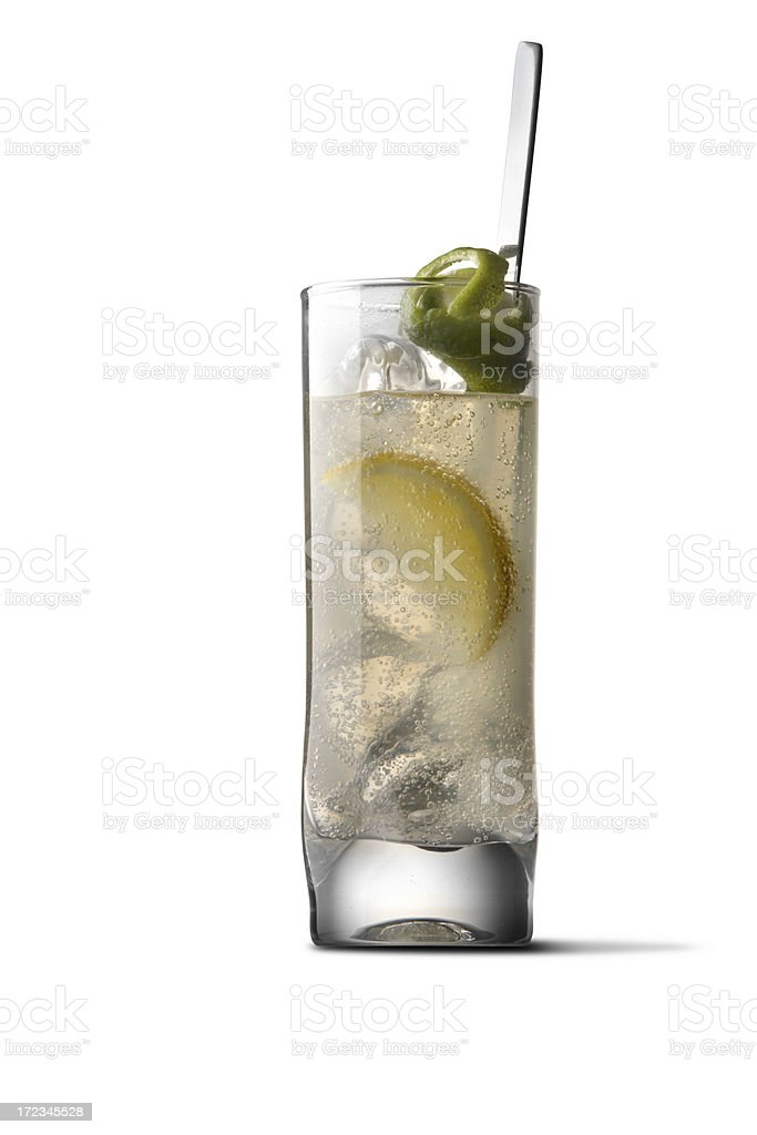 Drinks: Tom Collins royalty-free stock photo