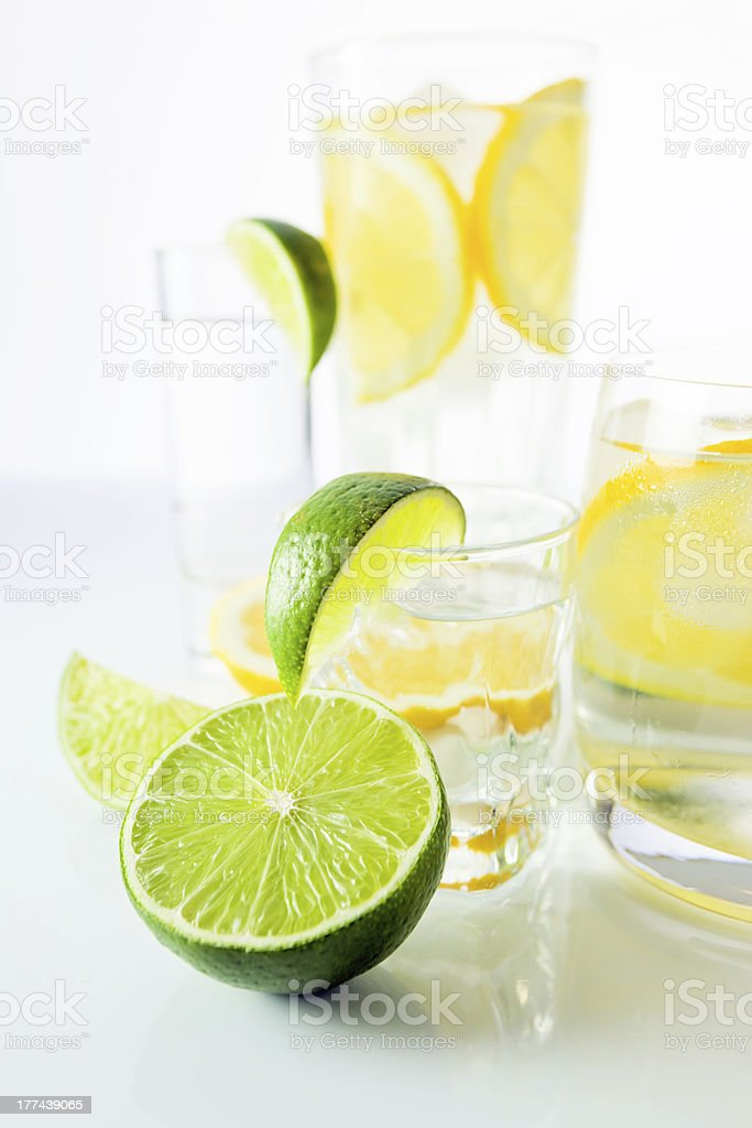drinks with citrus royalty-free stock photo