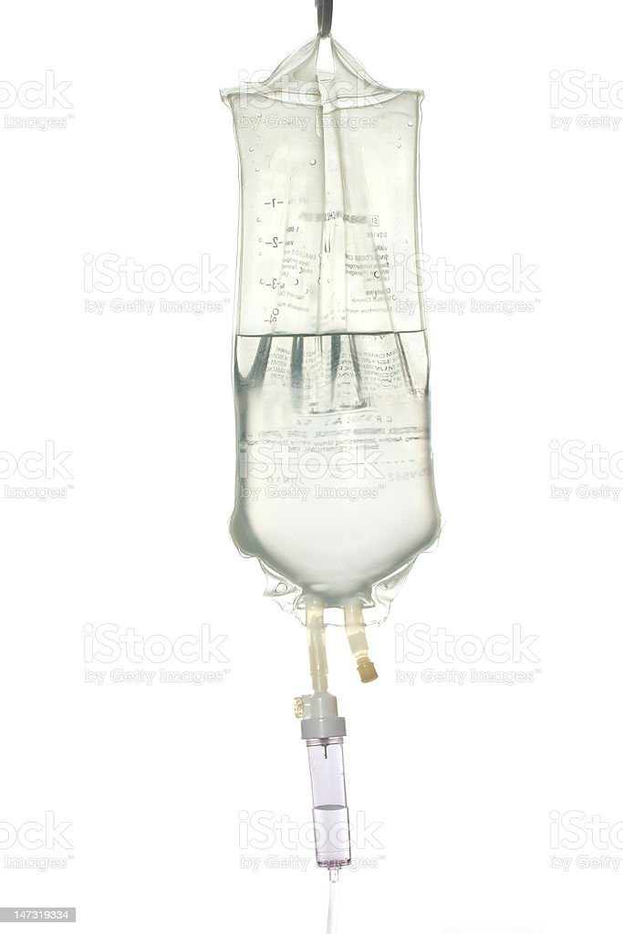 IV drip bag stock photo